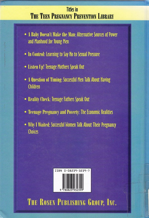 It's OK to Say No back cover