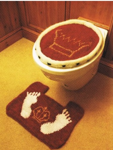 toilet cover and mat