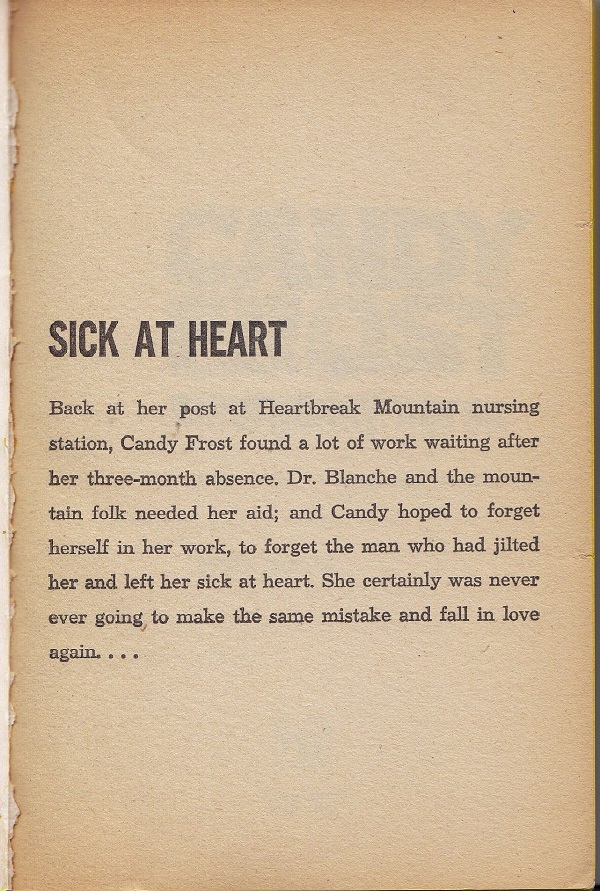 Candy Frost Emergency Nurse - Sick at heart