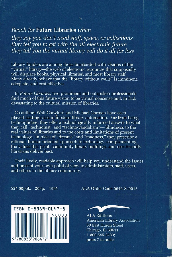 Future Libraries back cover