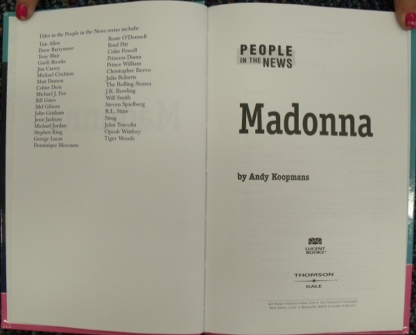 Madonna - title page
