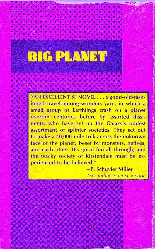 Big Planet back cover