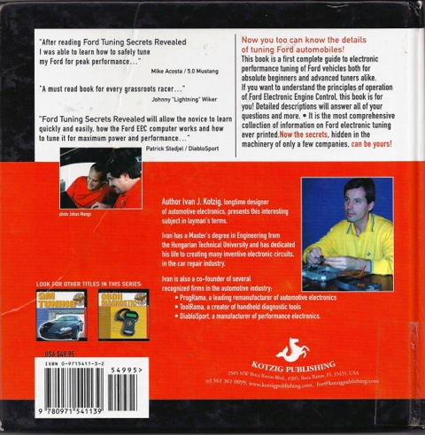 Ford tuning back cover