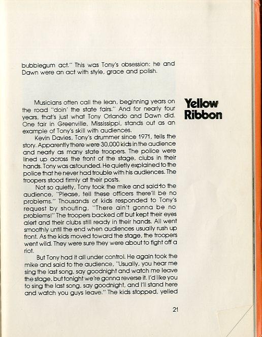 Tony Orlando Yellow Ribbon