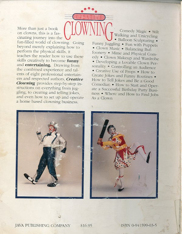 Clowning back cover
