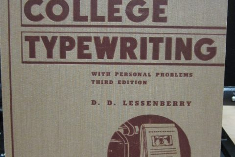 College Typewriting cover