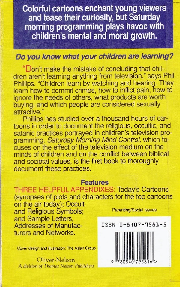 Saturday Morning Mind Control back cover