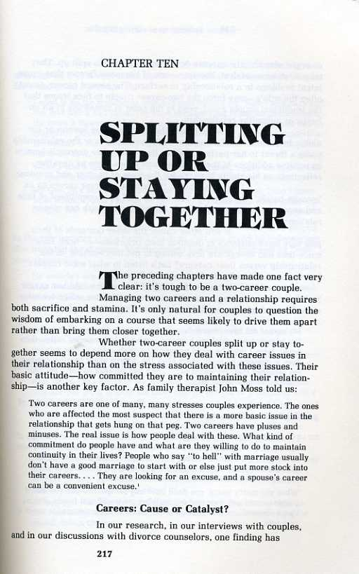 Splitting Up or Staying Together