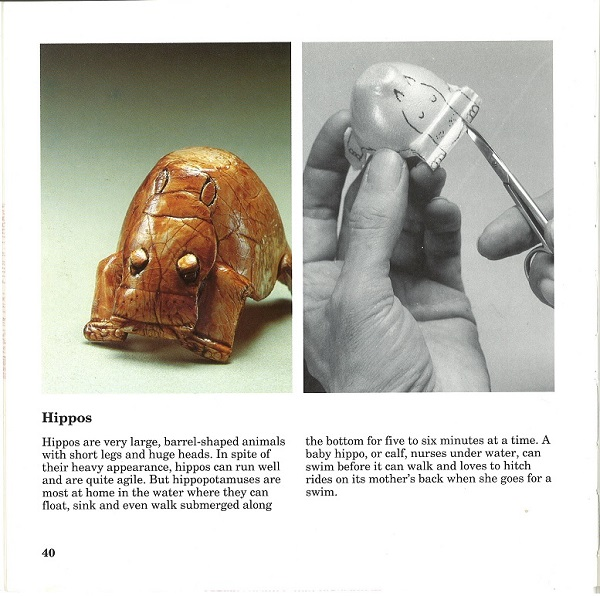 Egg Carton Zoo - hippo