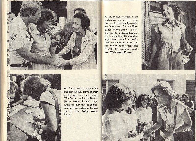 Anita Bryant on election day