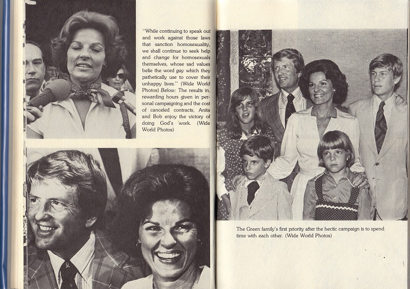 Anita Bryant speaks out on homosexuality
