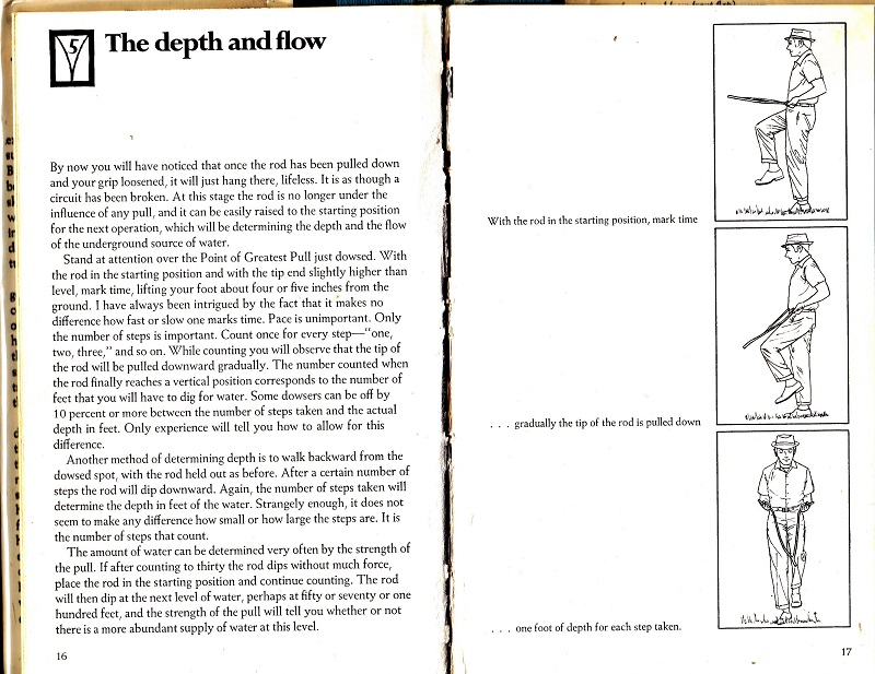 Dowsing - the depth and flow