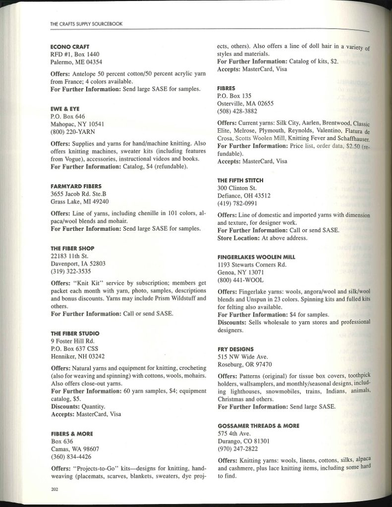 Crafts Supply Source Book - Page 202
