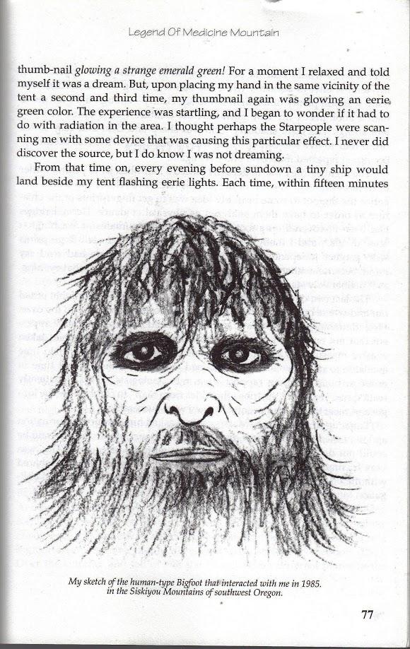 sketch of Bigfoot