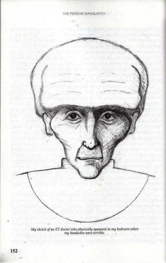 drawing of an alien
