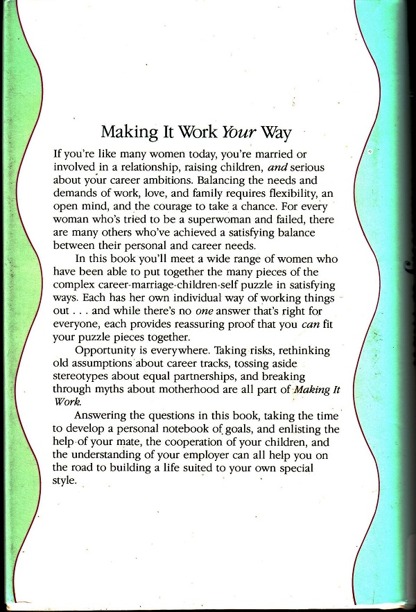 Making it Work back cover