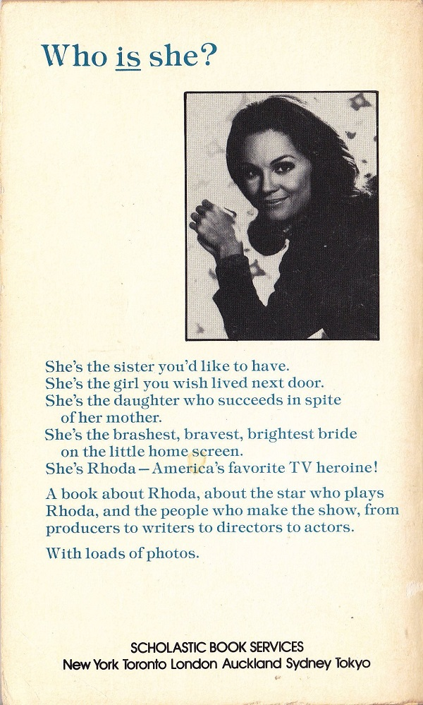 All About Rhoda back cover