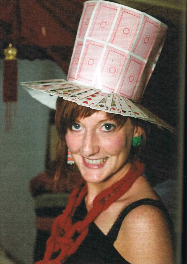 Hat made of playing cards