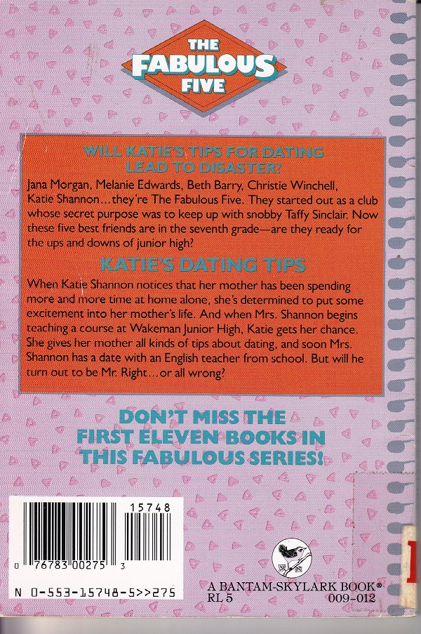 Fab Five back cover