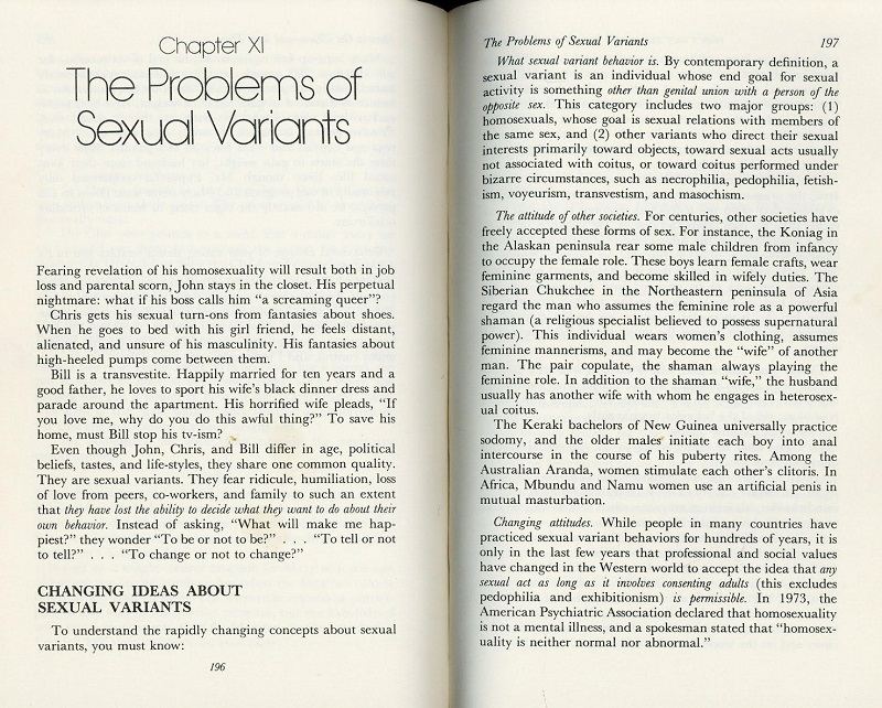 Problems of Sexual Variants