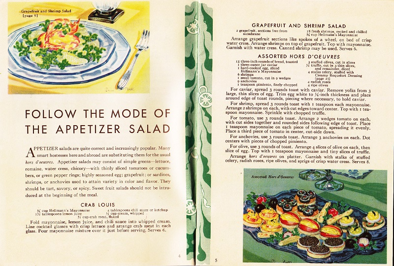 Follow the mode of the appetizer salad