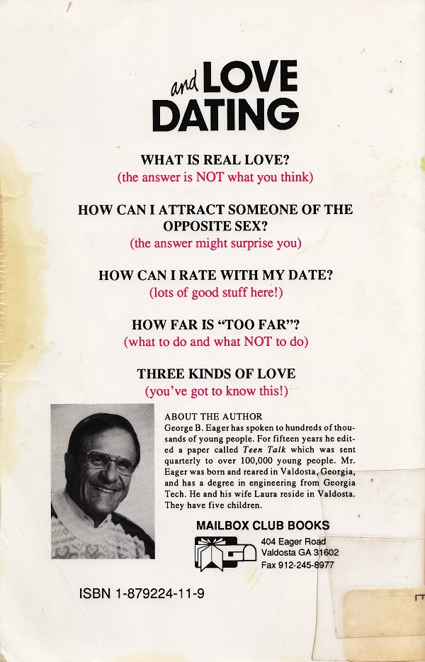 Love and Dating back cover