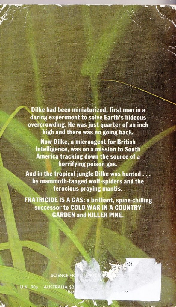 Fratercide is a Gas - back cover