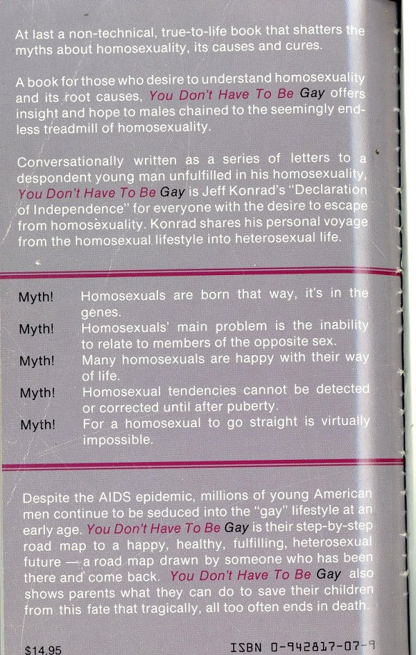 You Don't Have to Be Gay back cover