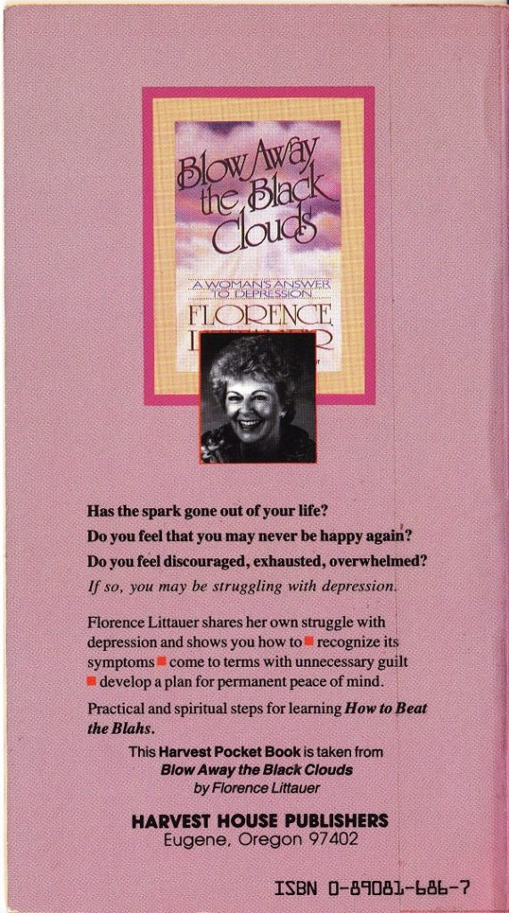 Beat the Blahs back cover