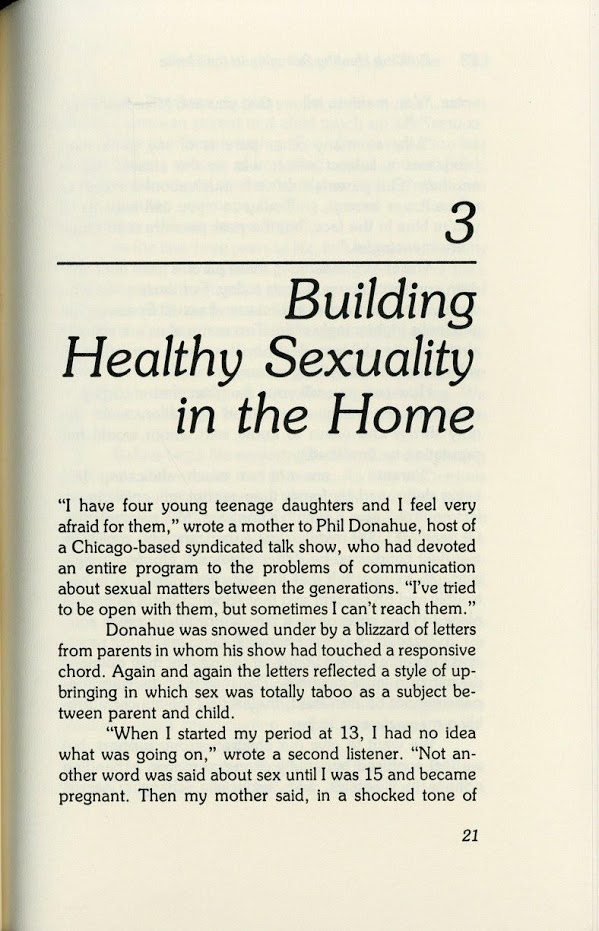 Building Healthy Sexuality in the Home