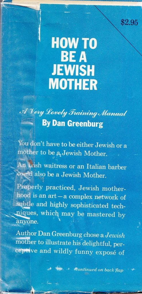 Jewish mother back cover