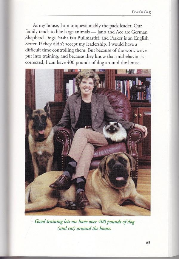 Mrs. Allen with her pets