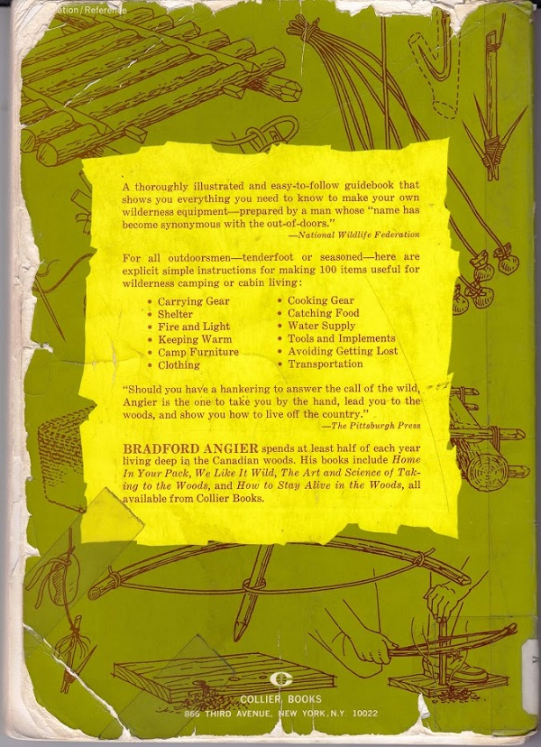 Wilderness Gear back cover