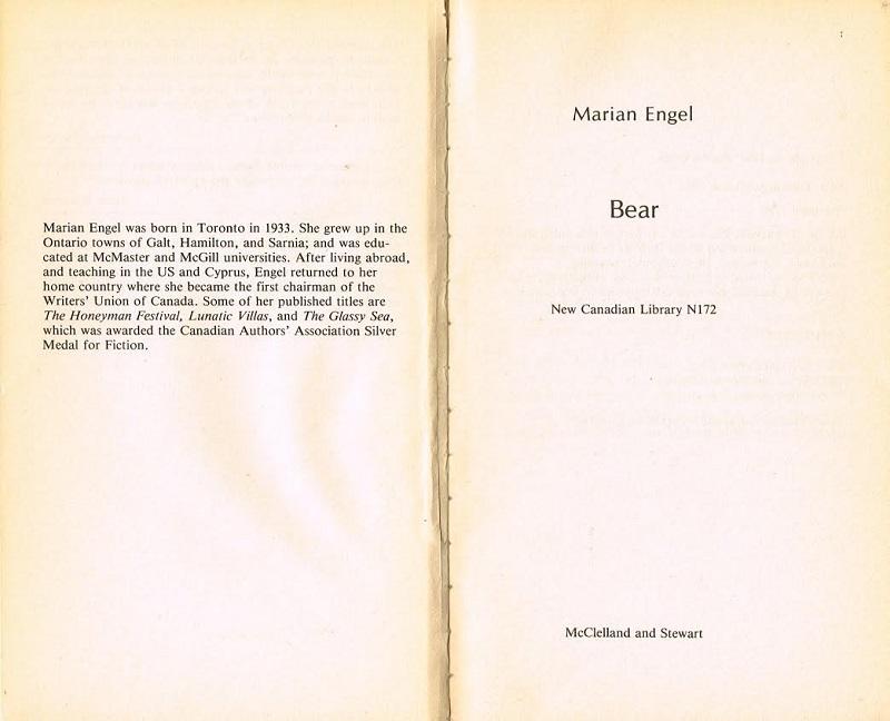 bear title page