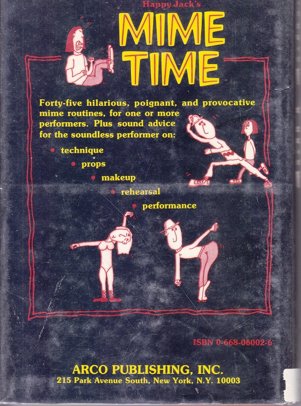 Mime Time - back cover