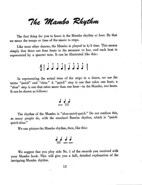 Mambo rhythm