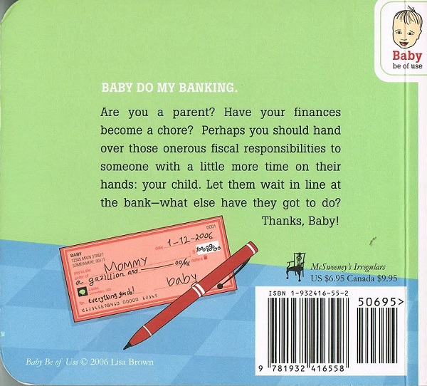 Baby Do My Banking - back cover