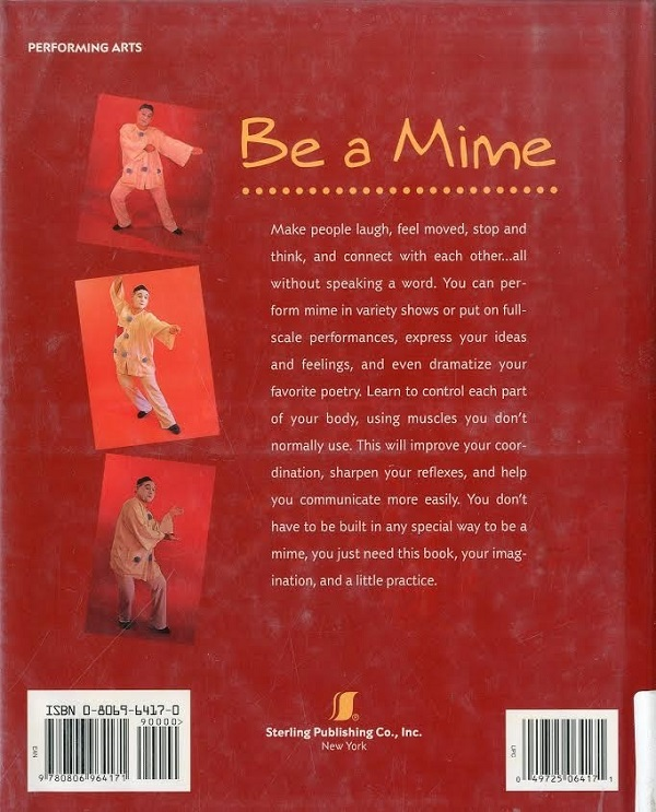 Be a Mime - back cover