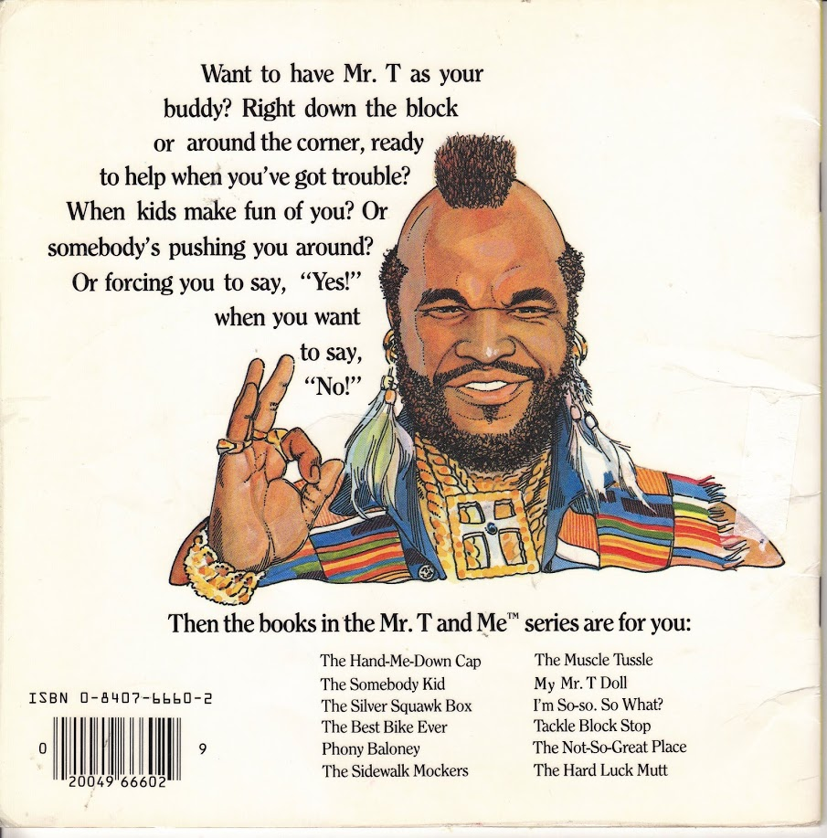 Tackle Block Stop back cover with Mr T