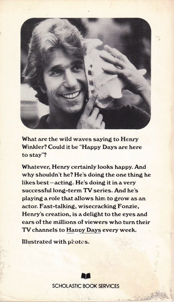 Truth About Fonzie back cover