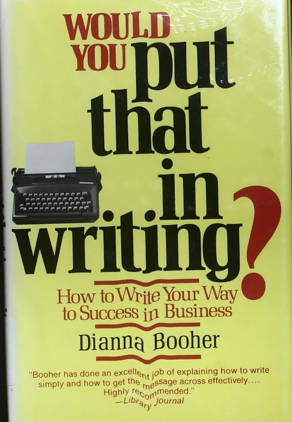 put that in writing cover