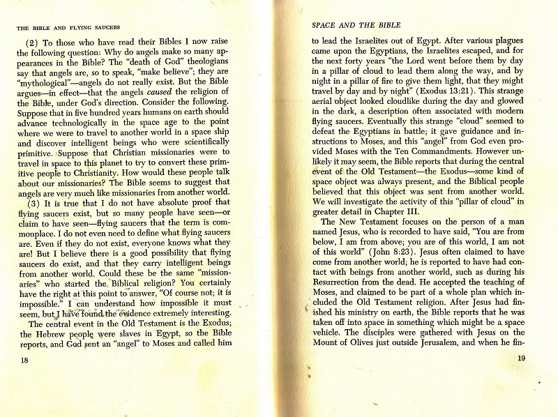 The Bible and Flying Saucers excerpt