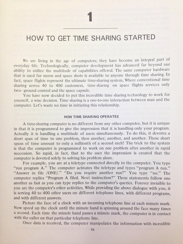How to get time sharing started