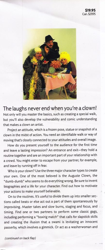 Be a Clown front flap