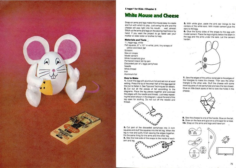 L'eggs White Mouse and Cheese