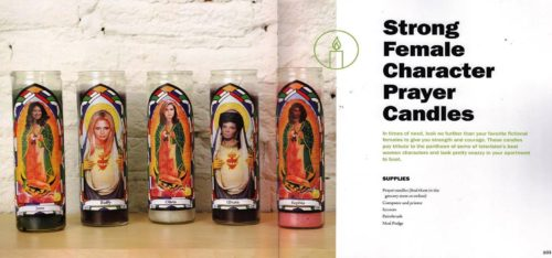 Strong Female Character Prayer Candles craft