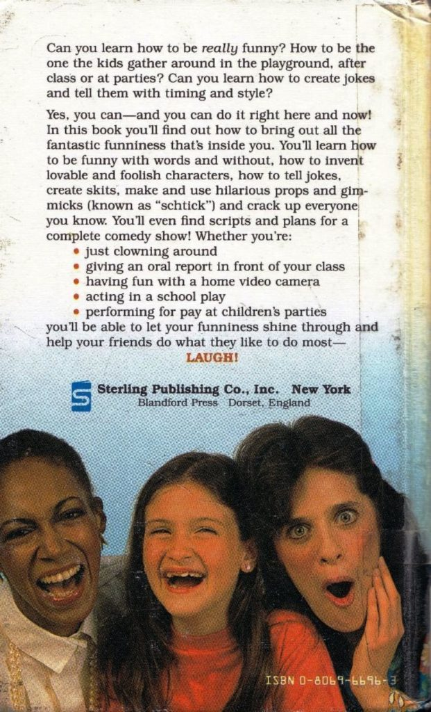 how to be funny back cover