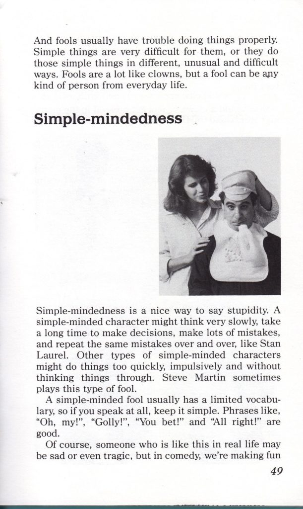 how to be funny-simple mindedness