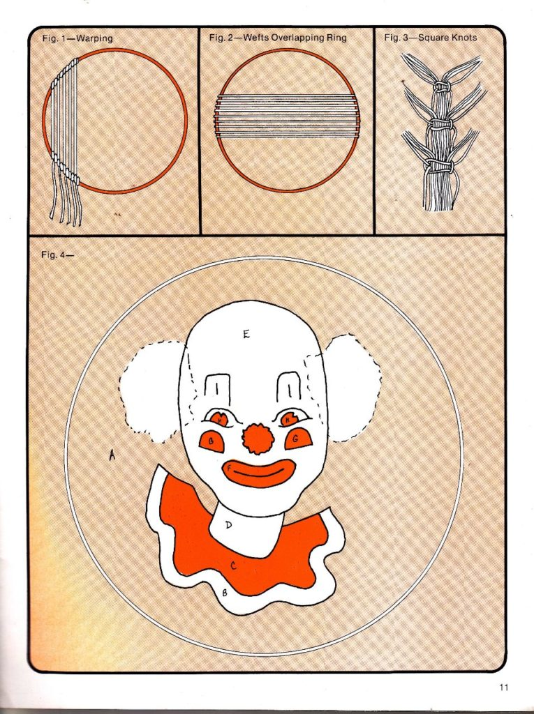 clown wallhanging weaving instructions