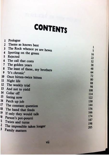 poultry in the pulpit table of contents